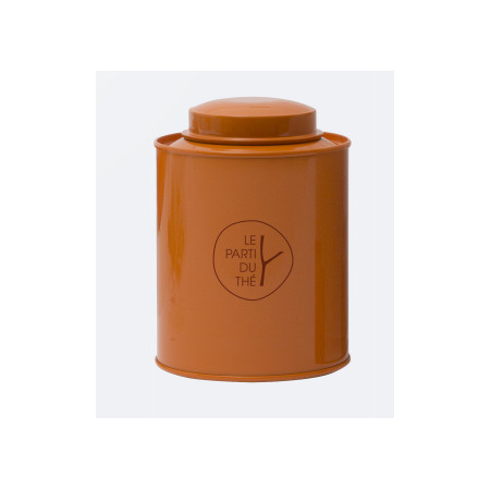 Boite à thé métal - ORANGE - 150G