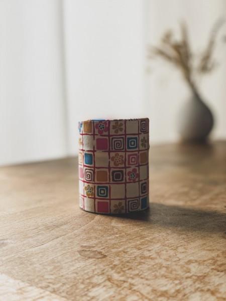 Boite à thé papier Washi Fleurs - 100G