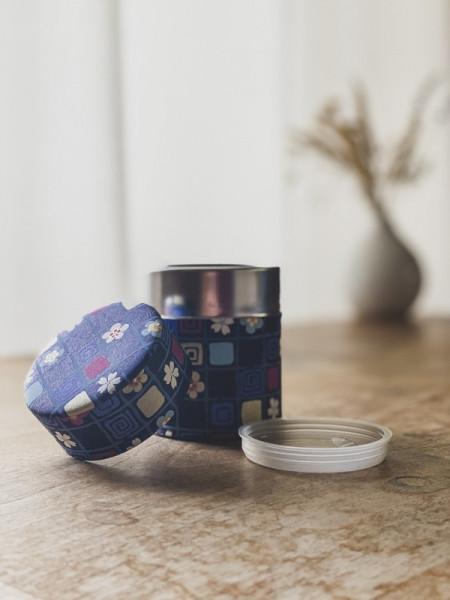 Boite à thé square - Bleue - 50G