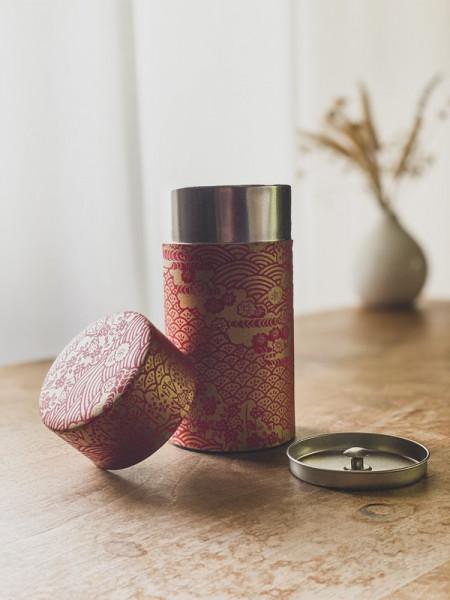 Boite à thé Dorée - Rouge - 200g