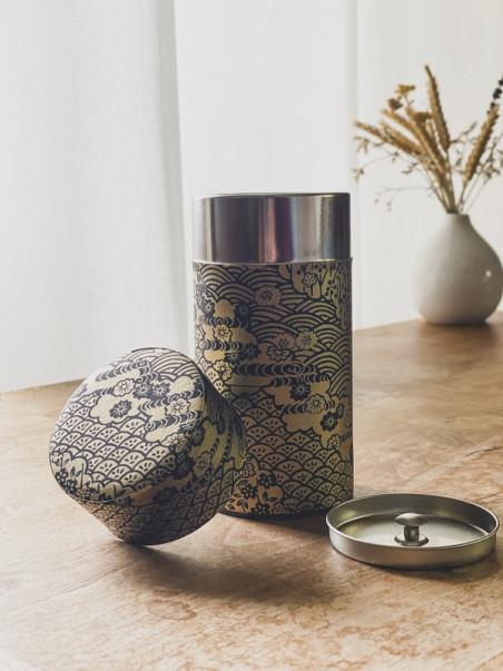 Boite à thé Dorée - Noire - 200g
