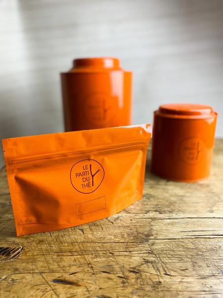 boite sachet orange