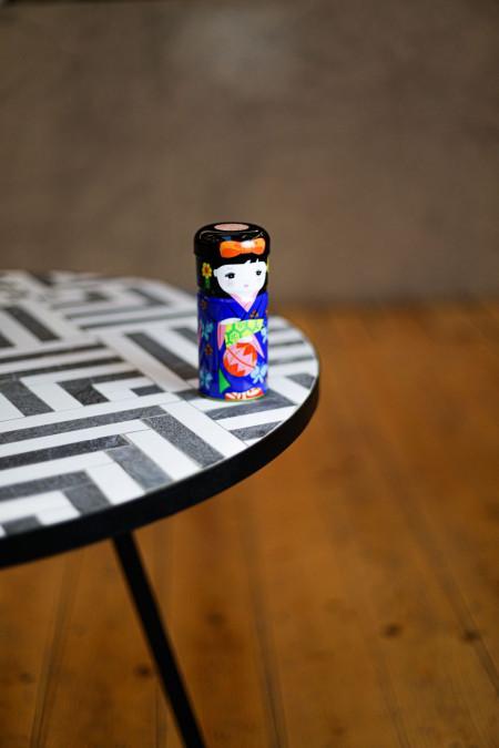 Boîte à thé Geisha bleue -...