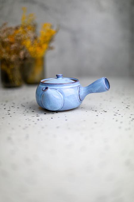 Théière Kyusu bleu