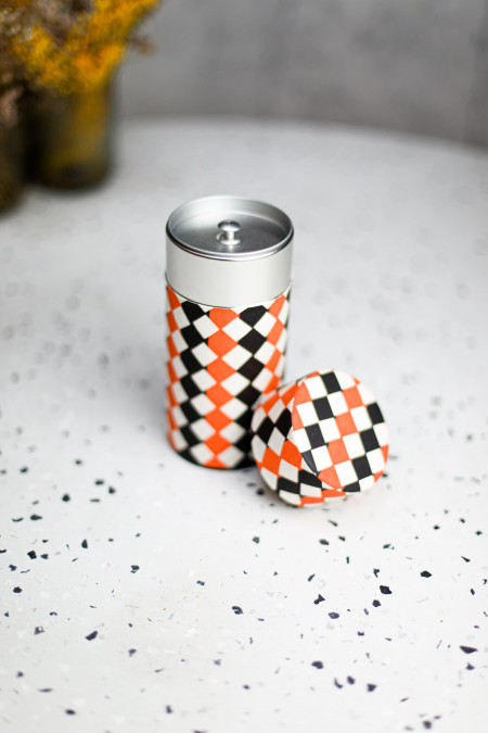 Boîte Washi motif orange