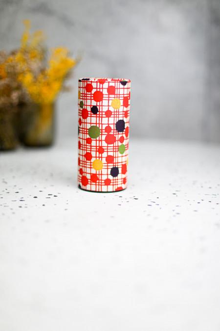 Boîte washi motif rouge