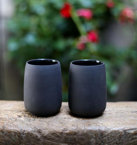 "Tea cup noir ""Viva"""