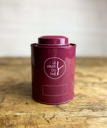 Boîte à thé métal Prune