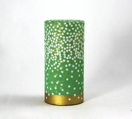 Boite washi - pluie de fleur - verte